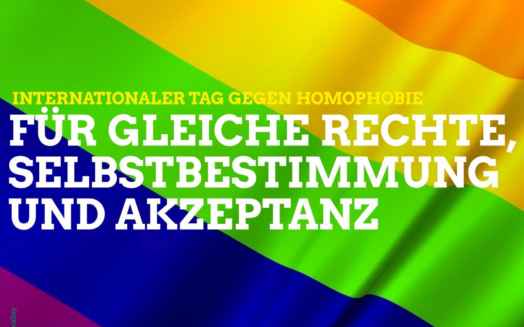 Tag gegen Homo-, Bi-, Inter- und Transfeindlichkeit